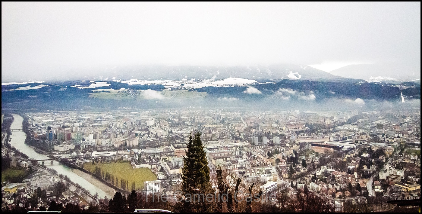 12 January 2016 – Nordkette Innsbruck and the Old Town at sunset ...